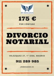 Precio divorcio notarial España