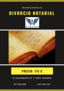 precio del divorcio ante notario en madrid