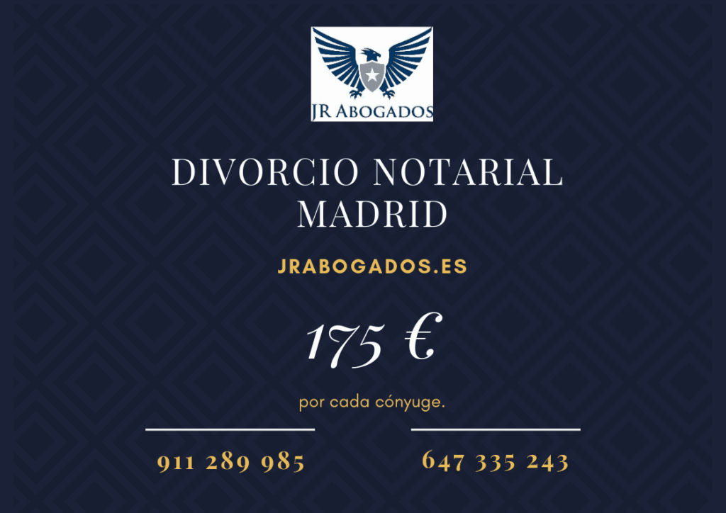 honorarios divorcio ante notario madrid
