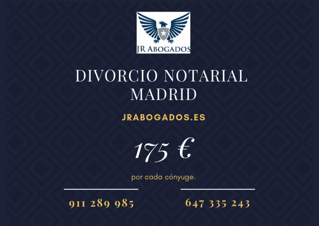 honorarios divorcio ante notario madrid